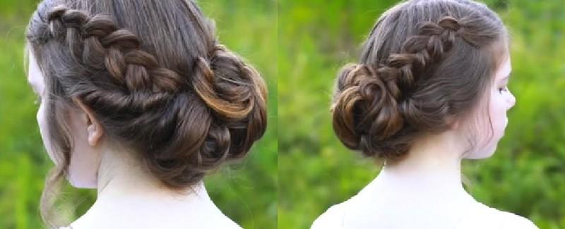 Две датские косы и витой пучок