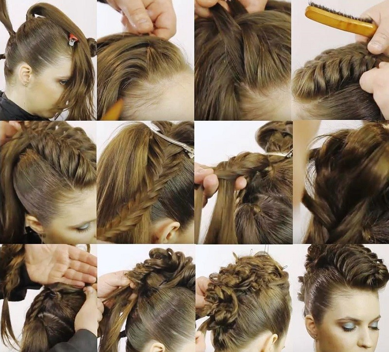Объёмная коса «Дракончик», этапы выполнения