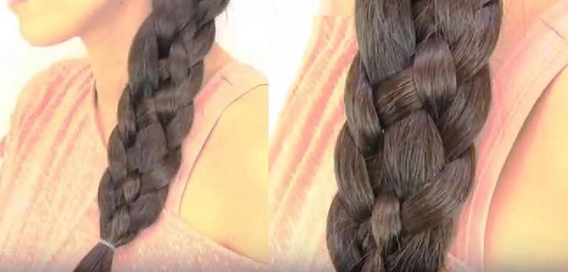 Классическое плетение косы из 5 прядей