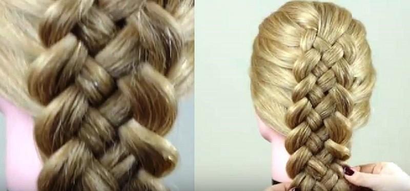 Французская коса из 5 прядей
