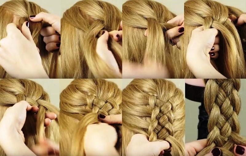 Французская коса из 5 прядей: пошаговая фото инструкция