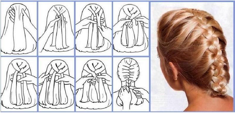 Классический колосок и схема его плетения