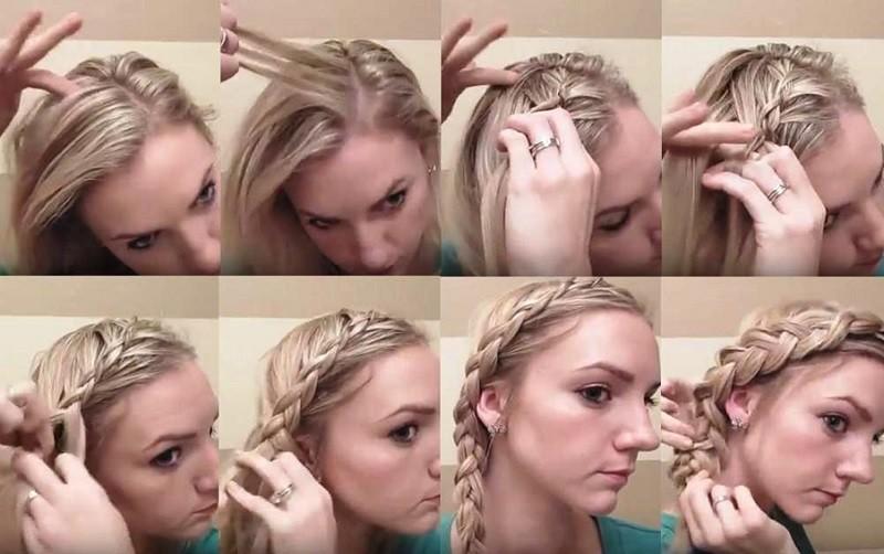 Вывернутая французская коса сбоку, пошаговая инструкция