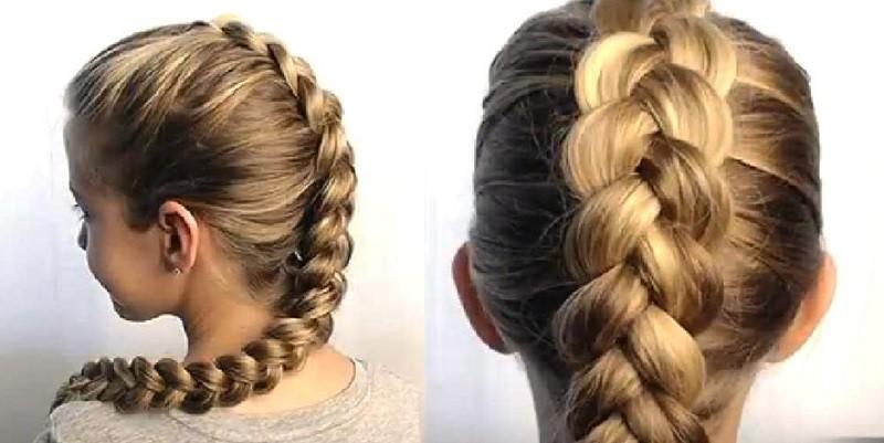 классические вывернутые косы