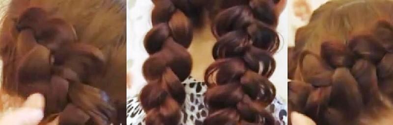 Два способа красиво растянуть вывернутую косу