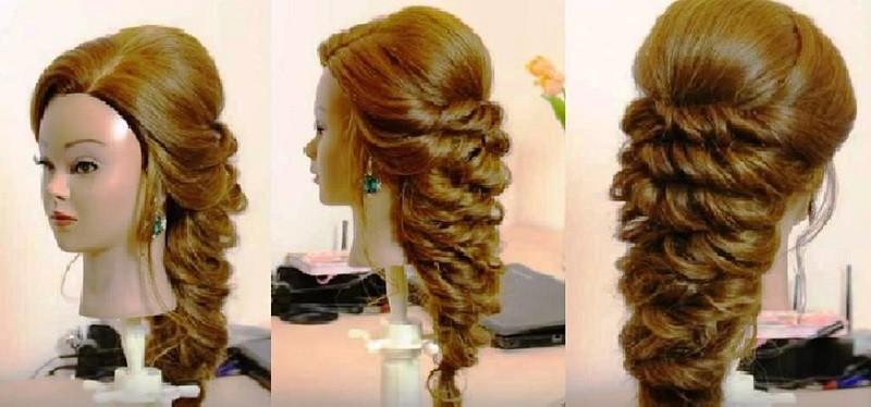 Прическа в греческом стиле на выпускной для длинных волос