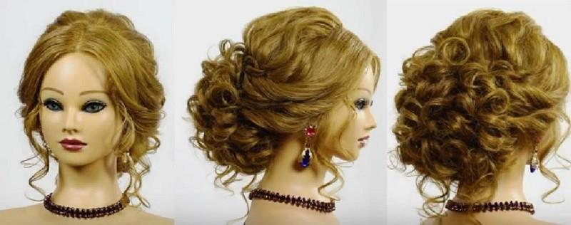 Романтическая прическа на выпускной на длинные волосы