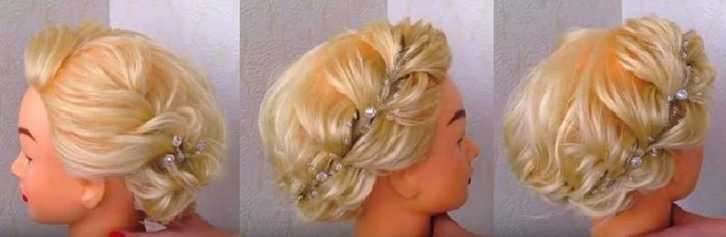 Причёска в стиле Мэрилин Монро для коротких волос