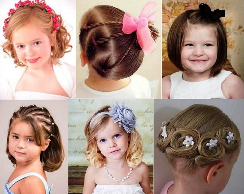 Прически в детский сад на выпускной на короткие волосы