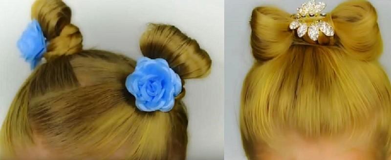 Прическа в детский сад на короткие волосы