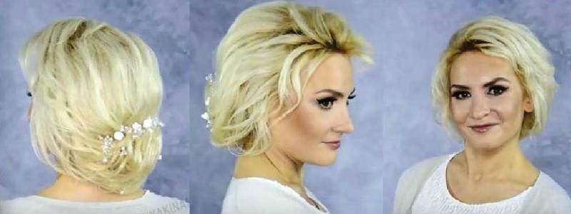 Прическа с челкой для коротких волос