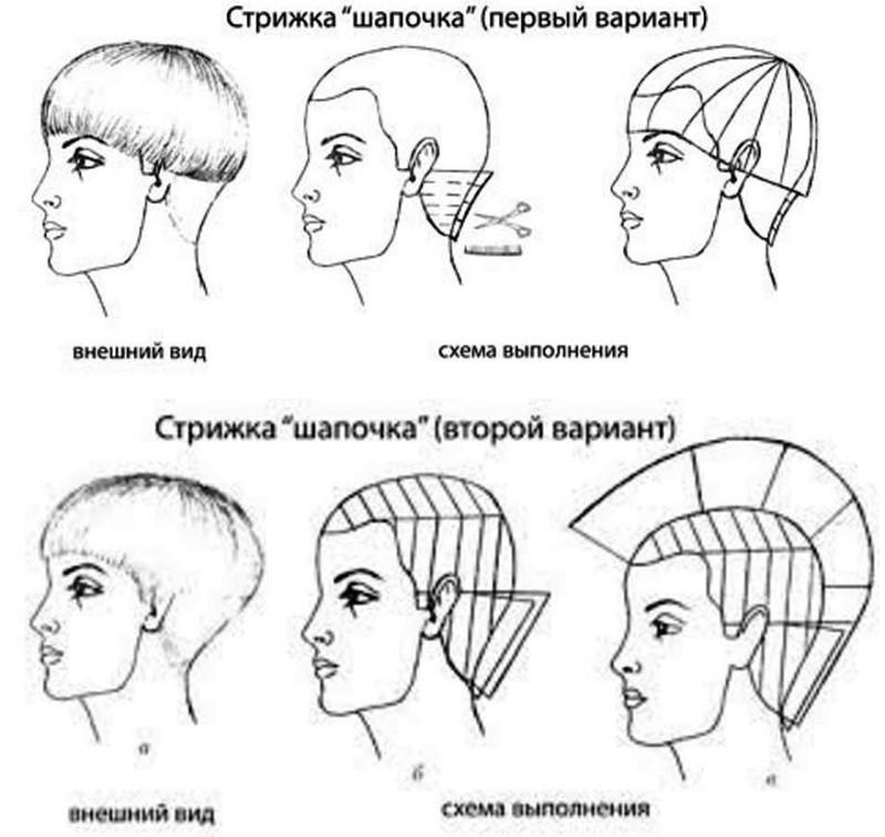 Женская шапочка: схема выполнения стрижки