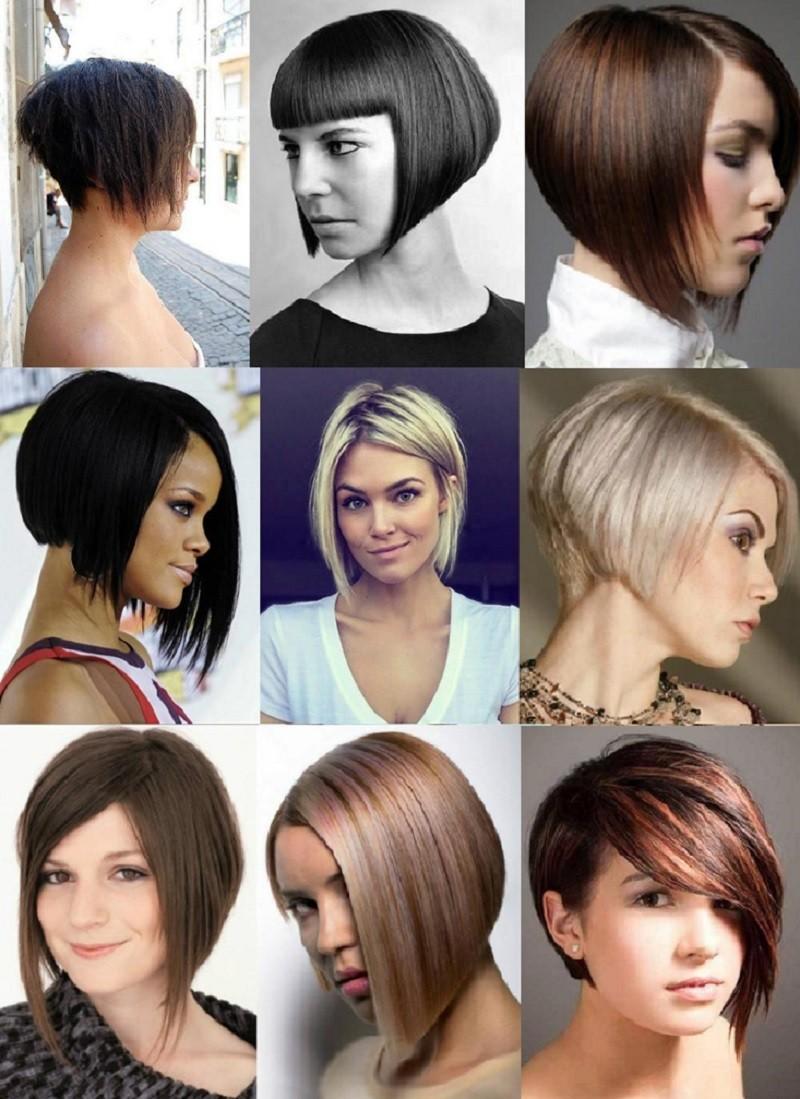 Каре с удлинением на коротких волосах