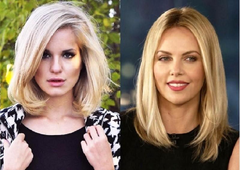 Удлиненное каре для блондинки
