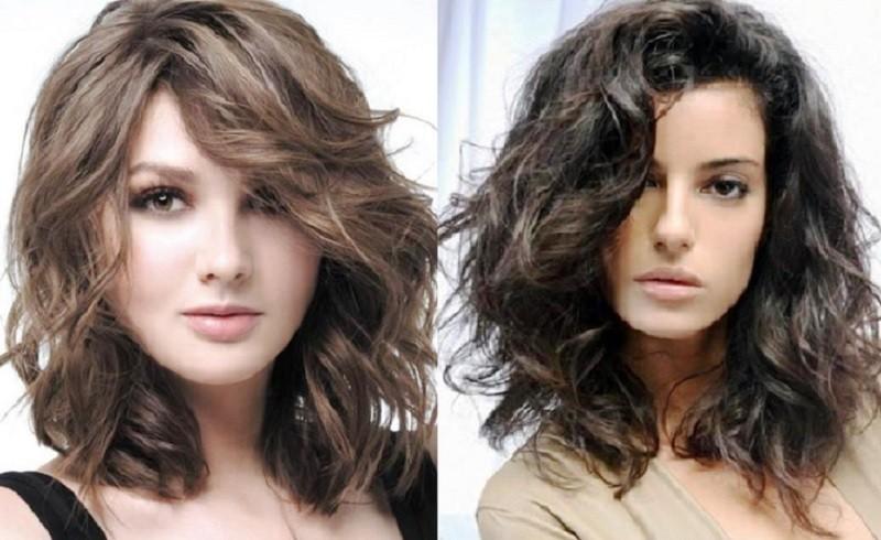Длинное каре для вьющихся волос