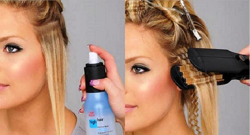 Гофрирование волос на стрижку каре