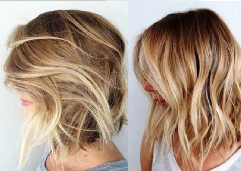 Шатуш на каре для светлых волос