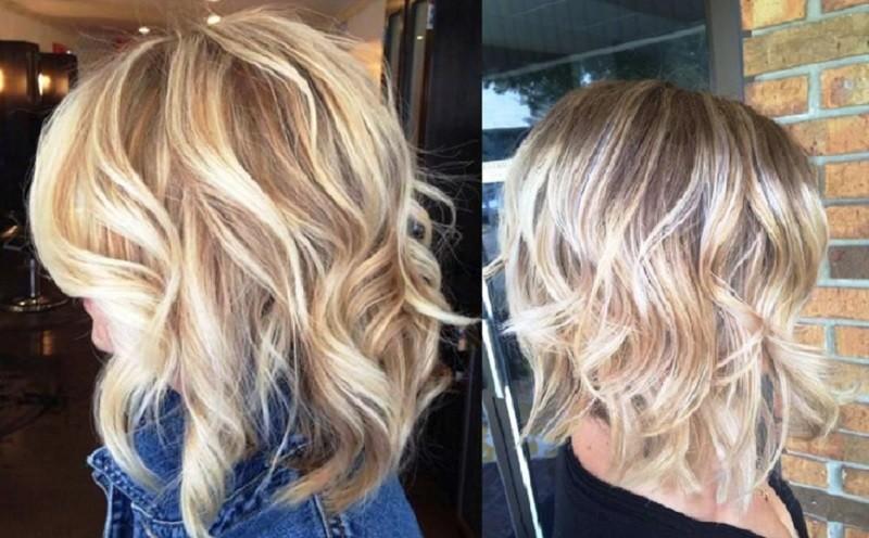 Шатуш на каре для блондинок