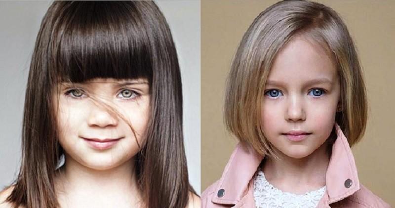 Каре для девочек на прямые волосы
