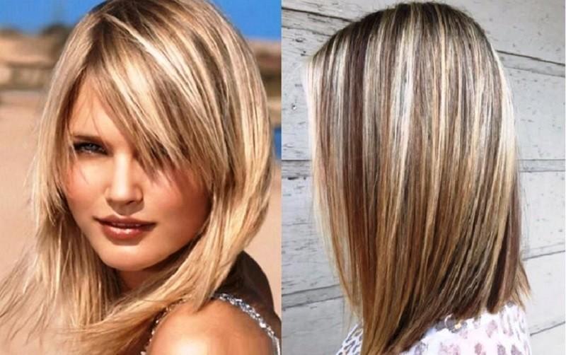 Мелирование на русые волосы каре