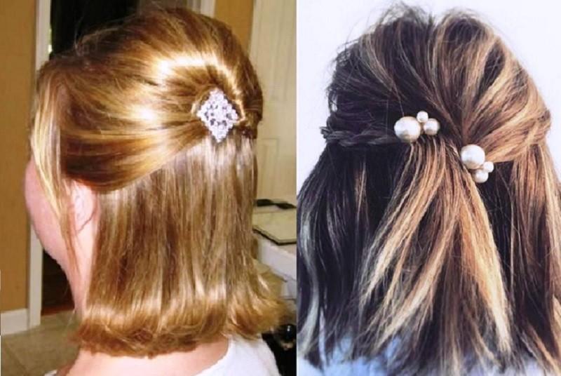 прически на 1 сентября на короткие волосы – объем на макушке