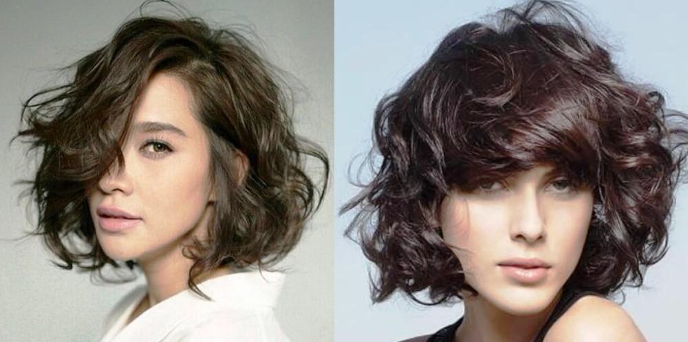 Каре на вьющихся волосах