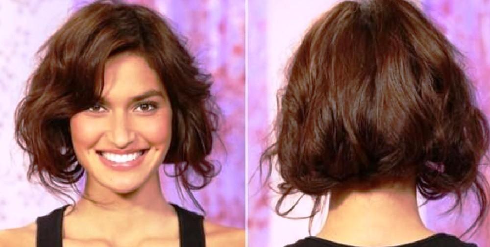 Каре на кудрявые и волнистые волосы
