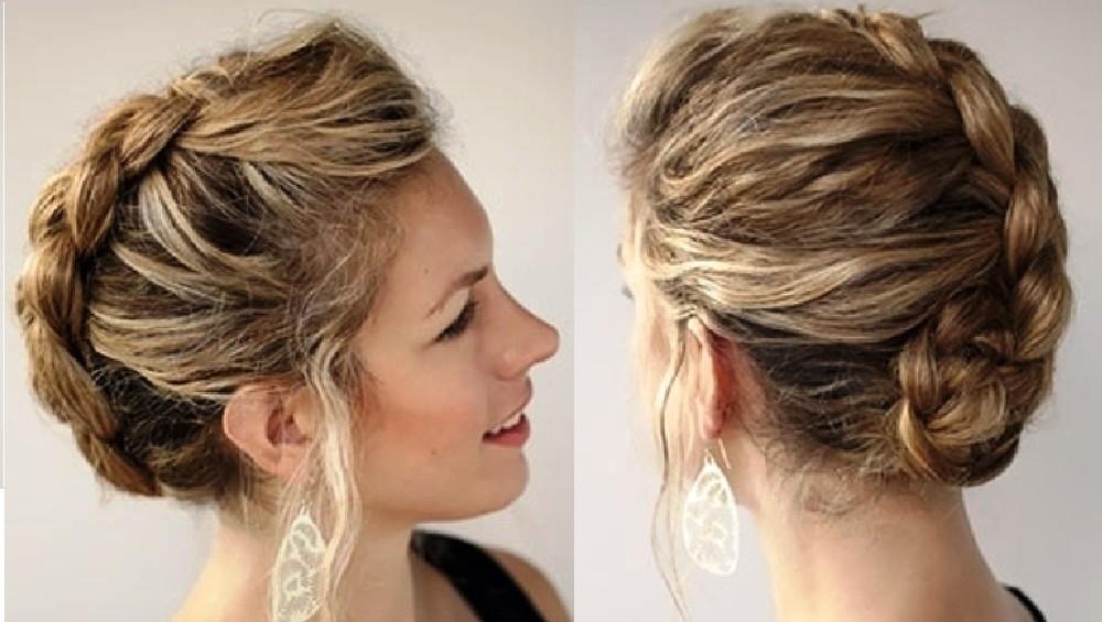 Вывернутая коса во французском стиле