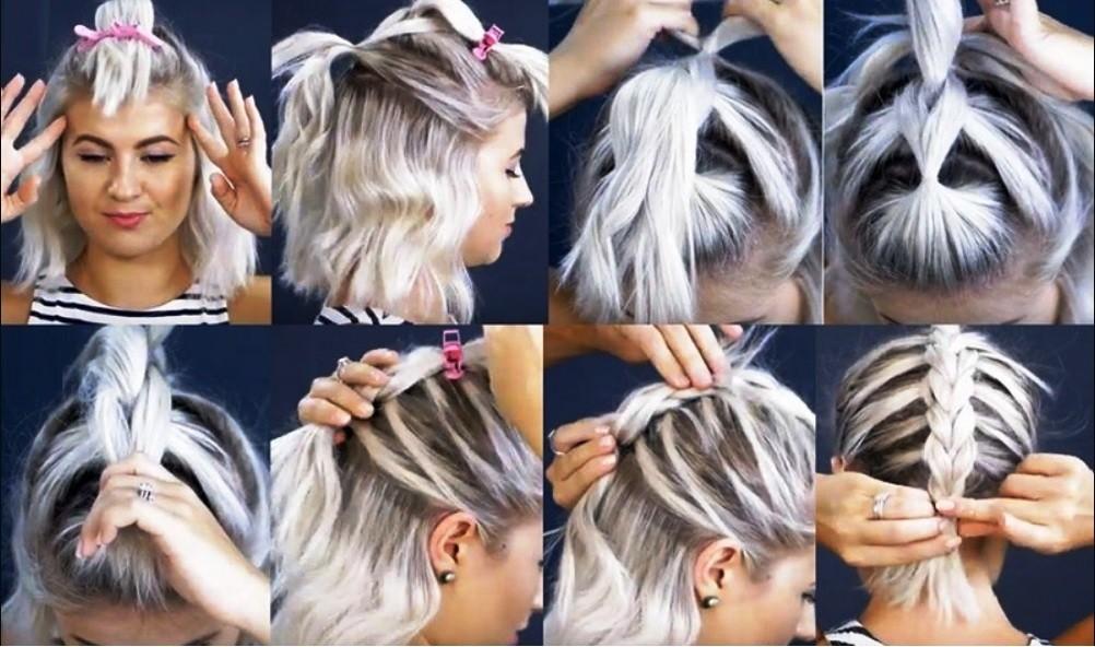 Пушистая коса из резинок - выполнение поэтапно