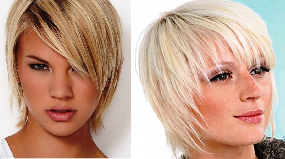 Короткий каскад для тонких волос