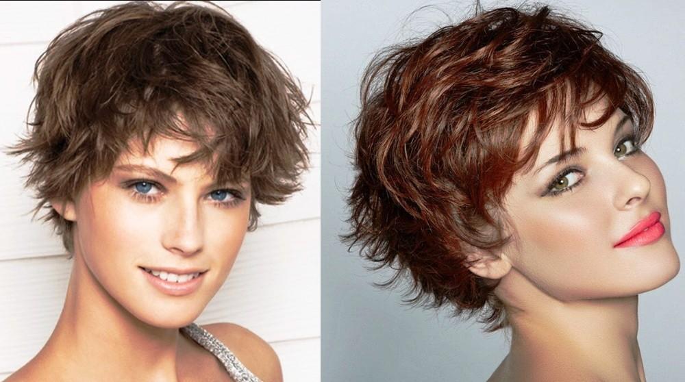 Каскад на короткие волнистые или вьющиеся волосы