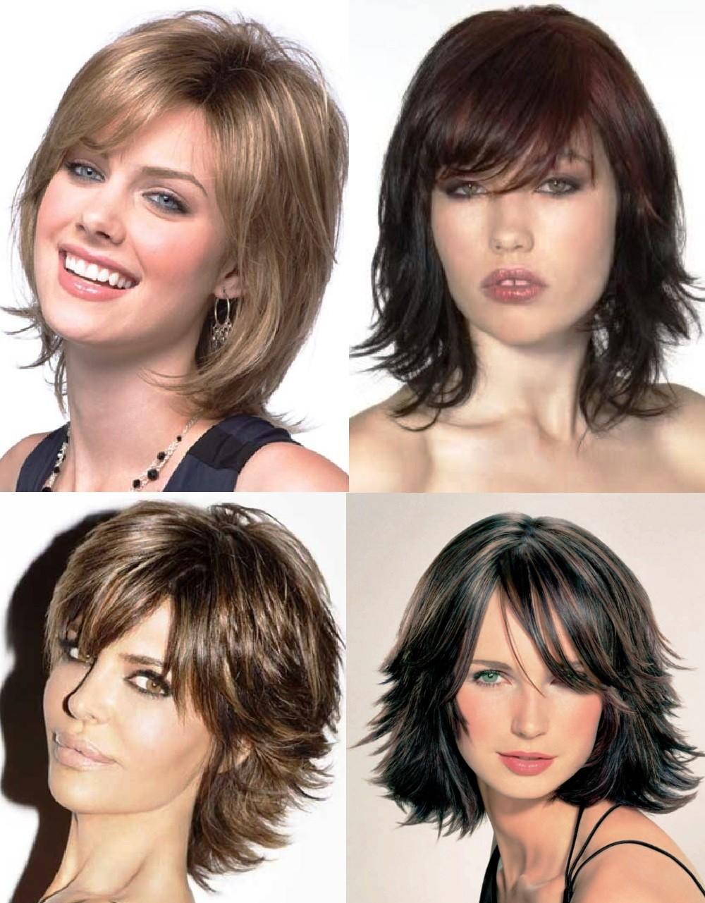 Женская стрижка Каскад на короткие волосы