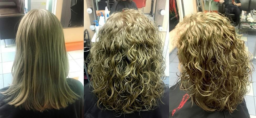 Биозавивка волос вид сзади