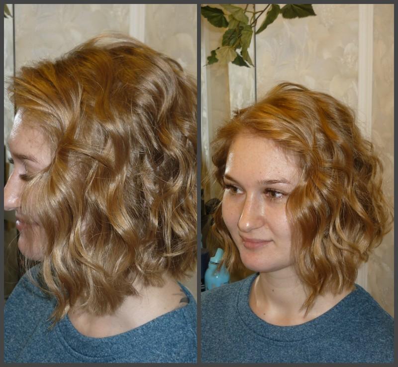 Биозавивка волос крупным планом