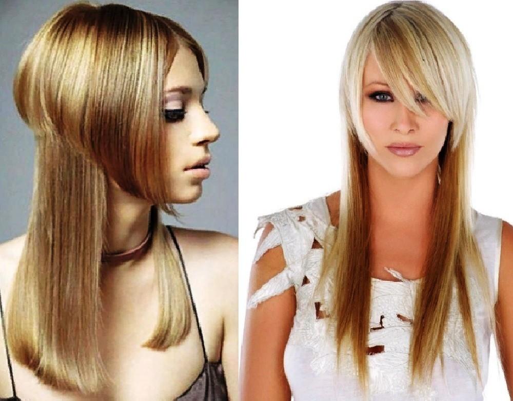 Двойной каскад на длинные волосы