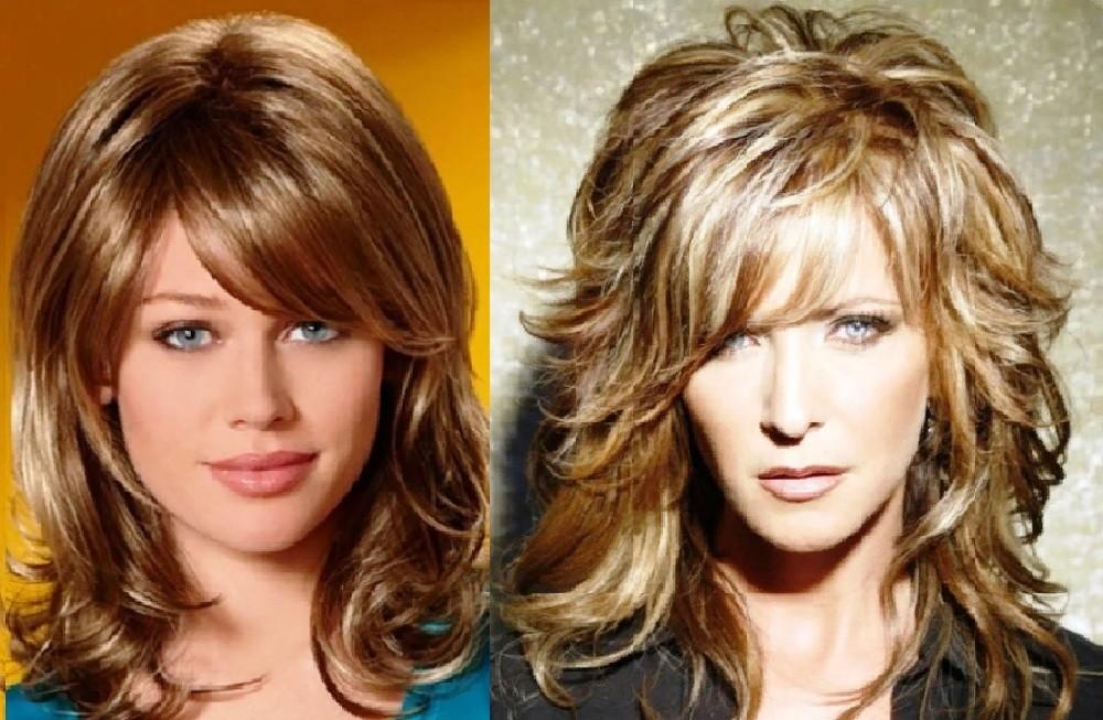 Укладка каскада на средние волосы