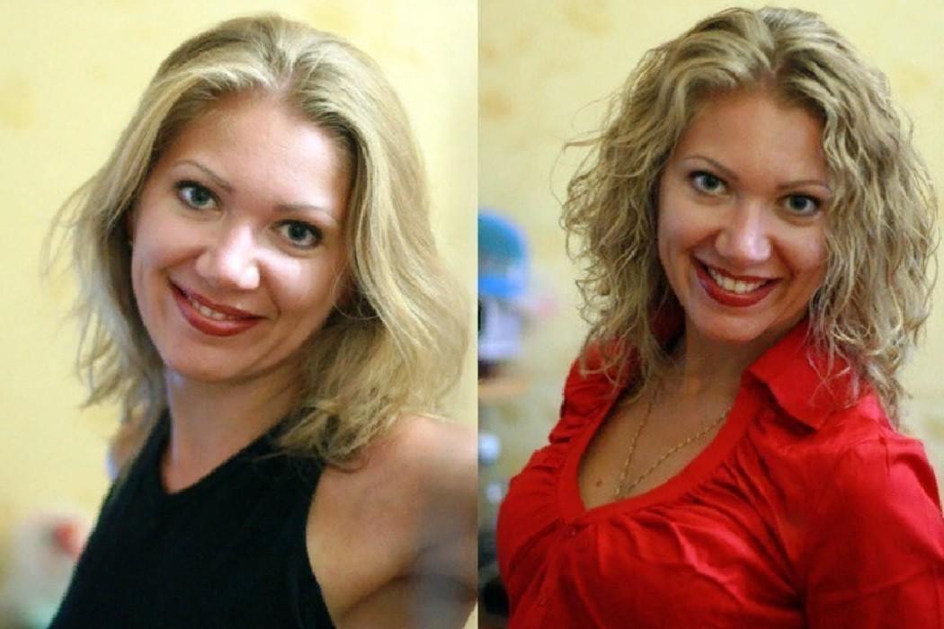 Биозавивка на средних волосах фото до и после процедуры