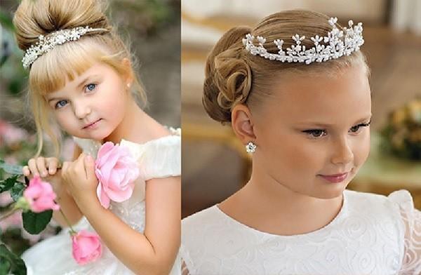 Прически с коронами и диадемами