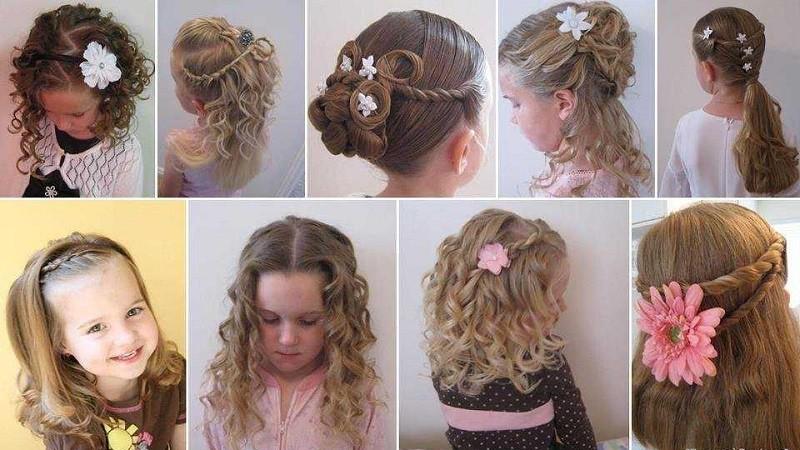 Детская прическа на кудрявые волосы
