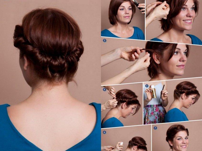 Укладка для коротких волос пошагово