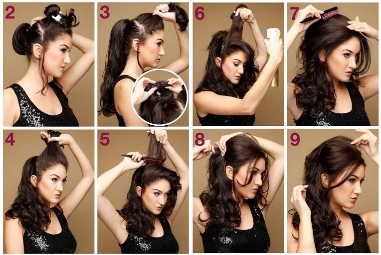 Прически на средние волосы с кудрями своими руками