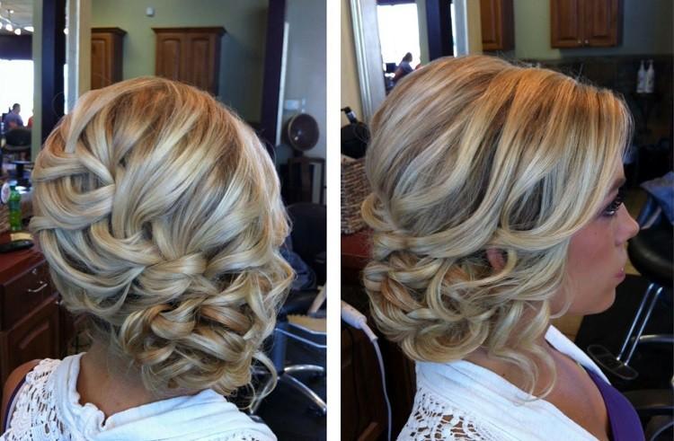 Причёски с накрученными волосами для коротких волос фото