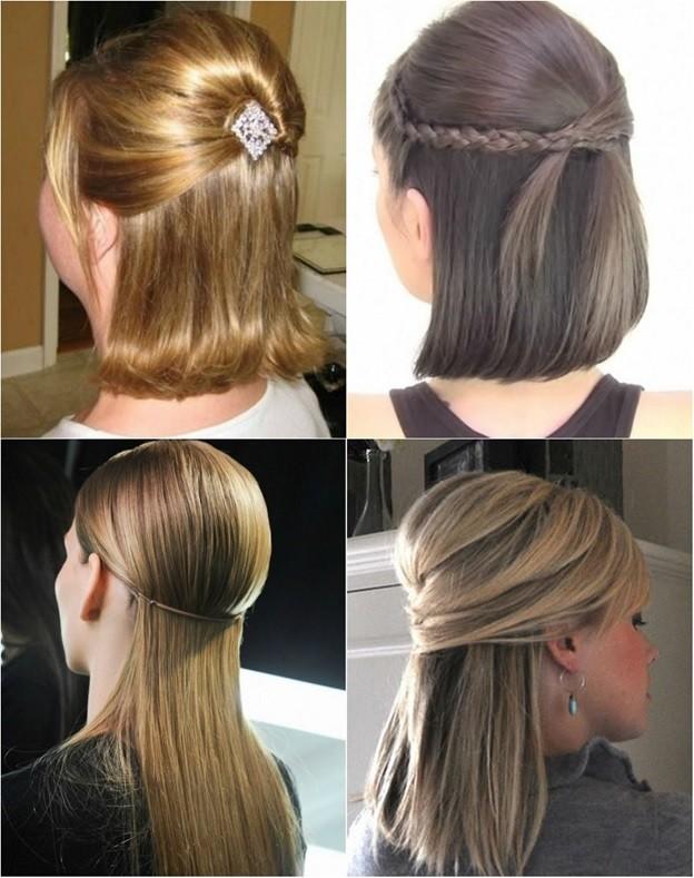 Красивые причёски на волосы до плеч своими руками