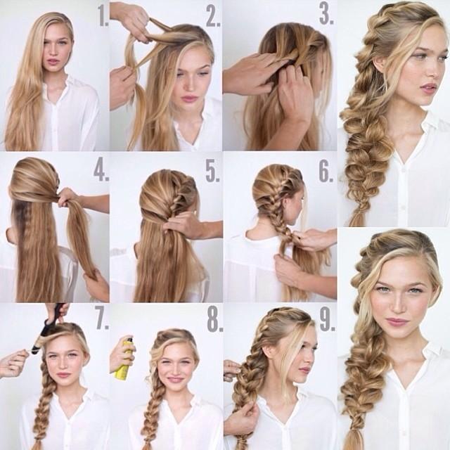 Прически на длинные волосы из кос на каждый день своими руками